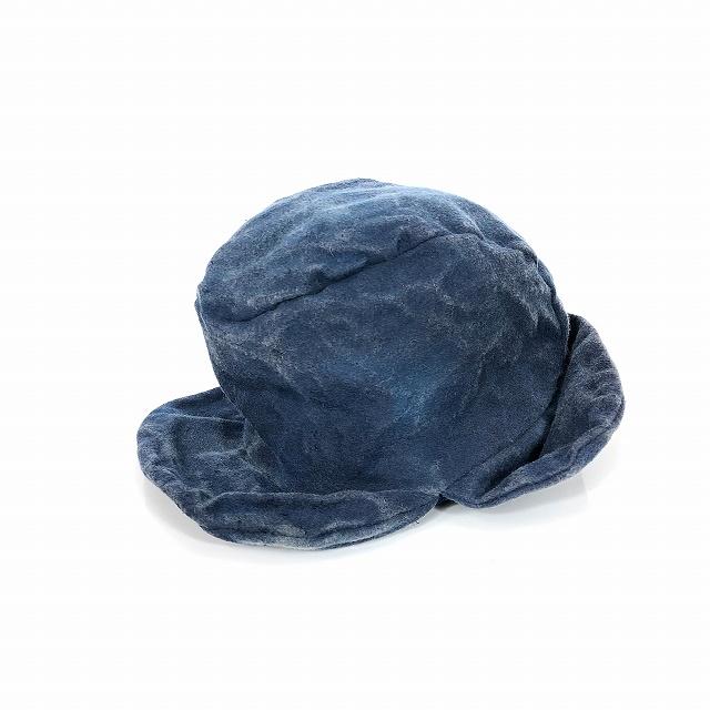 レナードプランク REINHARD PLANK USED加工 ウール フライトキャップ 帽子 FOREST WFT ブルー 青 SIZE 11 L 6589982016 col.093 メンズ 【中古】【ベクトル 古着】 190207 VECTOR×Refine