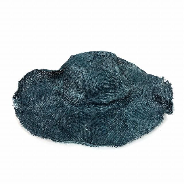 レナードプランク REINHARD PLANK ワイドブリム ストローハット 麦わら帽子 DONNA RAS ブルー 青 SIZE 09 M 6501981058 col.195 メンズ 【中古】【ベクトル 古着】 190209 VECTOR×Refine