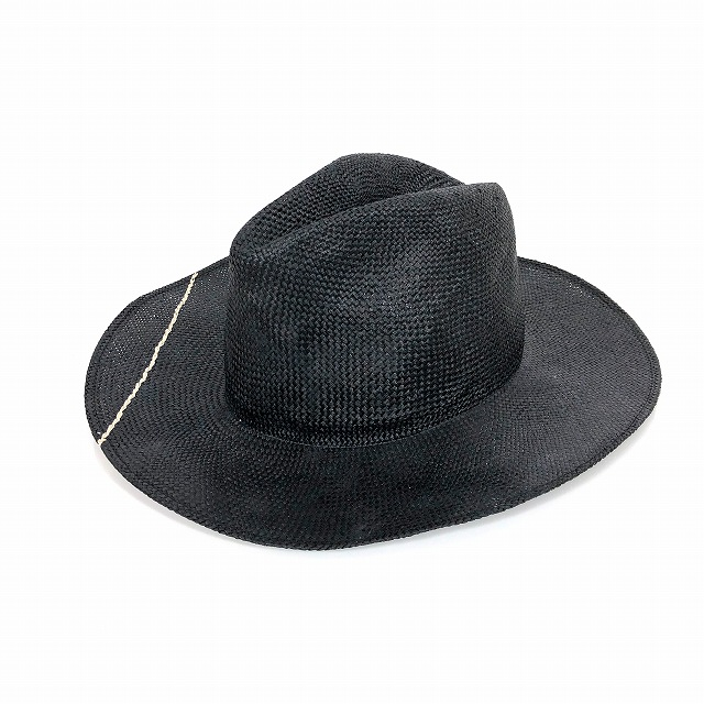 レナードプランク REINHARD PLANK 中折れ レーヨン ハット 帽子 LAILA OPEN VIS ブラック 黒 SIZE 11 L 6589981029 col.913 メンズ 【中古】【ベクトル 古着】 190209 VECTOR×Refine