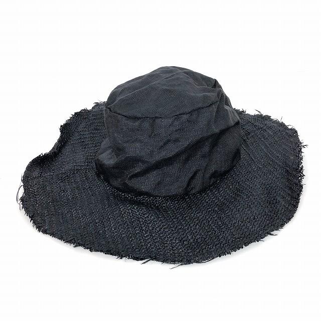 レナードプランク REINHARD PLANK ワイドブリム ストローハット 麦わら帽子 TOM F VTCS ブラック 黒 SIZE 09 M 6502981044 col.013 メンズ 【中古】【ベクトル 古着】 190210 VECTOR×Refine
