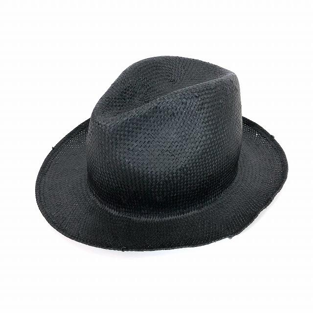 レナードプランク REINHARD PLANK 中折 ストローハット 麦わら帽子 FRANCISCO RAS ブラック 黒 SIZE 11 L 6589971034 col.013 メンズ 【中古】【ベクトル 古着】 190210 VECTOR×Refine