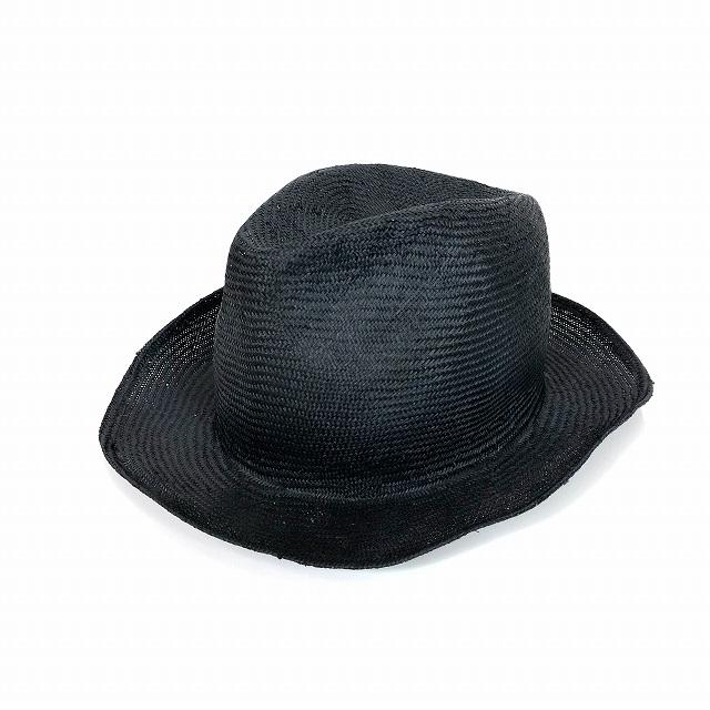 レナードプランク REINHARD PLANK 中折れ ストローハット 麦わら帽子 FRANCISCO SPA ブラック 黒 SIZE 11 L 6589971036 col.013 メンズ 【中古】【ベクトル 古着】 190210 VECTOR×Refine