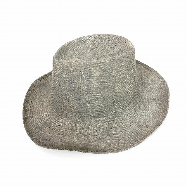 レナードプランク REINHARD PLANK コーティング 中折れ ストローハット 麦わら帽子 BAMBI SPA グレー ベージュ SIZE 13 XL 6589971017 col.950 メンズ 【中古】【ベクトル 古着】 190210 VECTOR×Refine