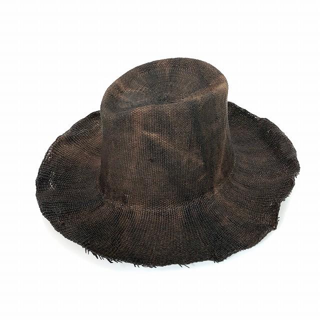 レナードプランク REINHARD PLANK 中折れ ワイドブリム ストローハット 麦わら帽子 BAMBI BNK ブラウン 茶 SIZE 13 XL 6589971013 col.045 メンズ 【中古】【ベクトル 古着】 190210 VECTOR×Refine