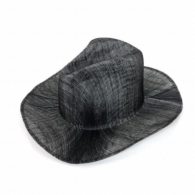 レナードプランク REINHARD PLANK 中折れ ワイドブリム ストローハット 麦わら帽子 LAILA OPEN SIS ブラック 黒 SIZE 11 L 6589971044 col.914 メンズ 【中古】【ベクトル 古着】 190211 VECTOR×Refine