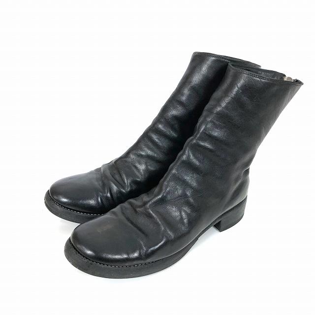 グイディ GUIDI BACKZIP HORSE BOOTS バックジップ ブーツ ホースレザー 45 黒 ブラック SB06 メンズ 【中古】【ベクトル 古着】 190214 VECTOR×Refine