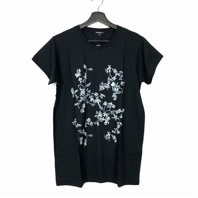 アンドゥムルメステール ANN DEMEULEMEESTER 18SS フラワー プリント Tシャツ カットソー 花柄 半袖 ブラック 黒 XS 1801-3957-241-099 メンズ 【中古】【ベクトル 古着】 190221 VECTOR×Refine