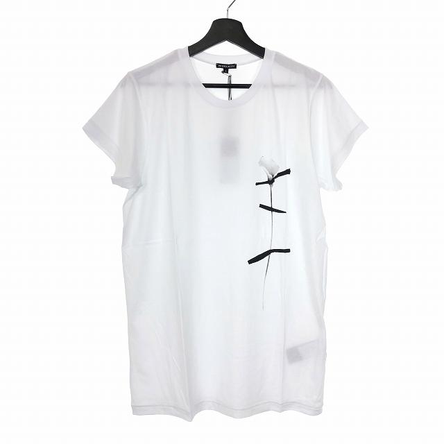 アンドゥムルメステール ANN DEMEULEMEESTER 18SS フラワー プリント Tシャツ カットソー 花柄 半袖 S ホワイト 白 1801-3957-246 メンズ 【中古】【ベクトル 古着】 190223 VECTOR×Refine