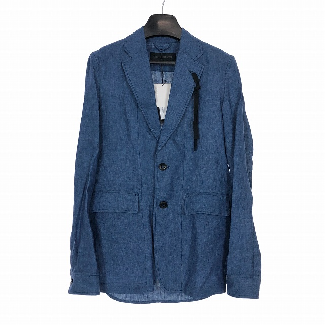アンドゥムルメステール ANN DEMEULEMEESTER 18SS リネン シャツ ジャケット 麻 XXS インディゴ 1807-3002-165-059 メンズ 【中古】【ベクトル 古着】 190312 VECTOR×Refine