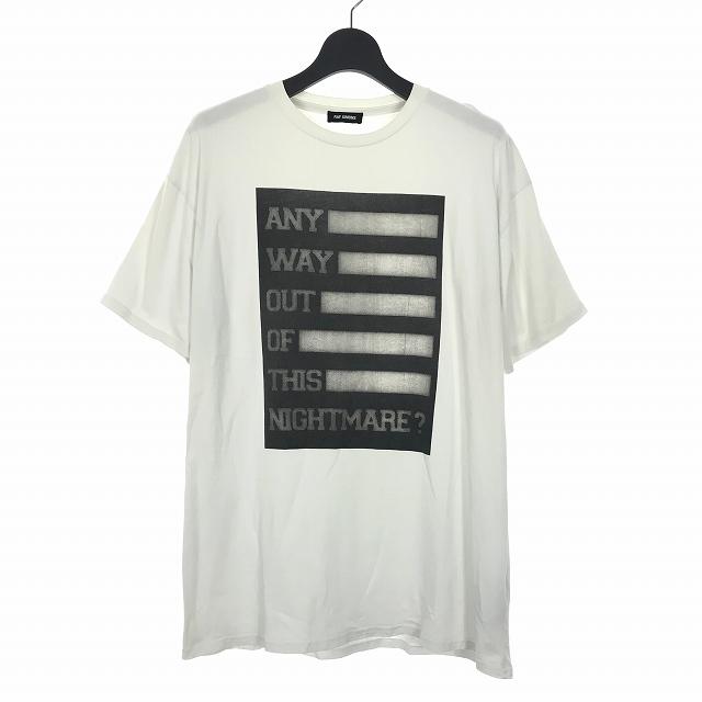 【中古】ラフシモンズ RAF SIMONS 17AW プリント Tシャツ カットソー 半袖 S ホワイト 白 メンズ 【ベクトル 古着】 190719 VECTOR×Refine