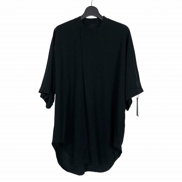 【中古】ニルズ NILOS 19SS タックド ビッグ Tシャツ カットソー 半袖 1 ブラック 黒 660CUM7 メンズ 【ベクトル 古着】 191017 VECTOR×Refine