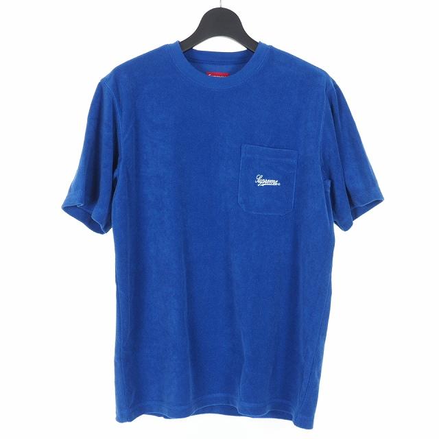 【中古】シュプリーム SUPREME 19SS Terry Pocket Tee シュプリーム テリーポケット Tシャツ カットソー ロゴ刺繍 半袖 M ブルー 青 メンズ 【ベクトル 古着】 191122 VECTOR×Refine