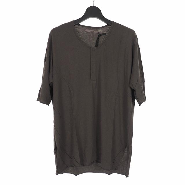 【中古】ミソンバーアン MISOMBER NUAN 14SS ヘンリーネック カットソー Tシャツ 半袖 0 グレー メンズ 【ベクトル 古着】 191208 VECTOR×Refine