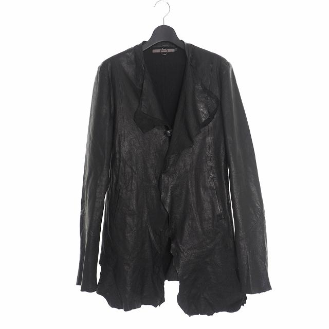 【中古】ミソンバーアン MISOMBER NUAN ラムレザー ジャケット 長袖 3 ブラック 黒 メンズ 【ベクトル 古着】 200323 VECTOR×Refine