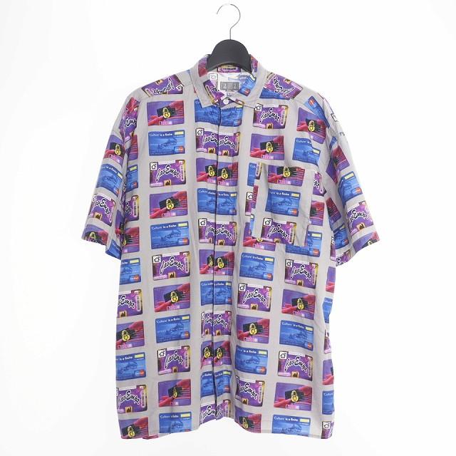 【中古】シーイー C.E 19SS CARD SHORT SLEEVE SHIRT 総柄 シャツ 半袖 XL グレー メンズ 【ベクトル 古着】 200421 VECTOR×Refine