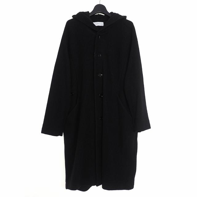 【中古】ダイエットブッチャースリムスキン DIET BUTCHER SLIM SKIN 19AW Hoodie coat フーディコート 長袖 2 ブラック 黒 DBC9509011 メンズ 【ベクトル 古着】 200504 VECTOR×Refine