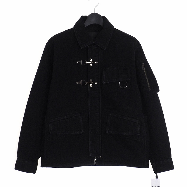 【中古】ダイエットブッチャースリムスキン DIET BUTCHER SLIM SKIN 19W Denim jacket ファイヤーマンバックル デニムジャケット 1 ブラック 黒 DBG9507021 メンズ 【ベクトル 古着】 200508 VECTOR×Refine
