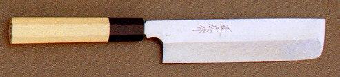 正広 マサヒロ 本焼 薄刃包丁180mm(No.15039)【包丁研ぎ券付き】