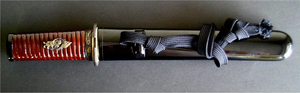 美術刀剣 模造刀  短刀・御守刀 籐巻柄6寸(T002)※本品は、メール便及び、ゆうパケット、コンビニ受取は対応しておりません。