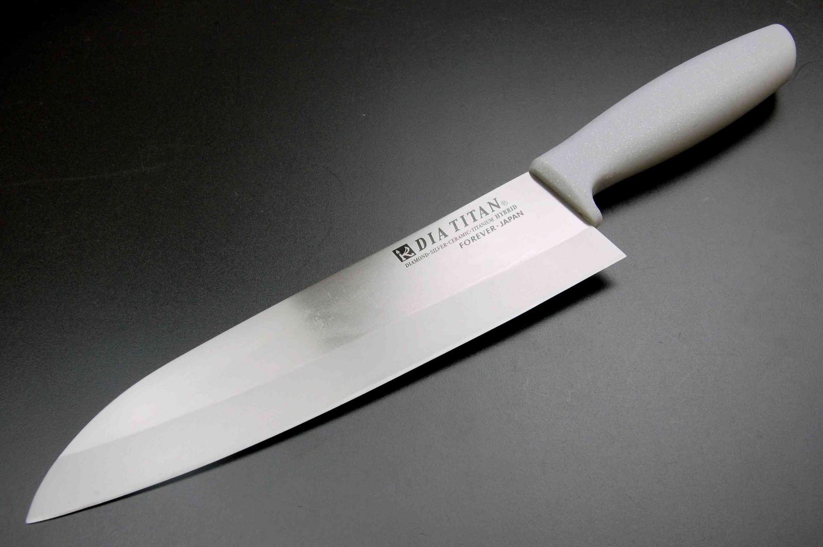 Merveilleux Titanium Diamond Santoku Knife 19 Cm