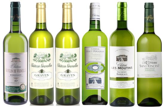 金賞受賞ボルドーワインのセット! フランス・ボルドー 金賞受賞 白ワイン 6本セット