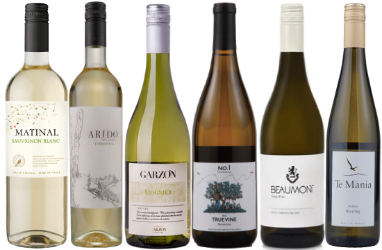 銘醸産地の品種を楽しむワインセット(新大陸白ワイン6本)