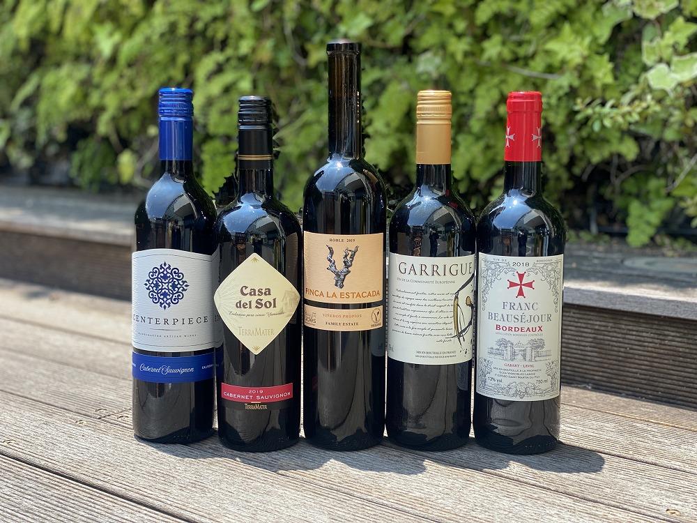 商舗 新商品 毎月人気のバリューワインセット ワインバスケット 赤5本セット 8月 ワインセット 赤ワイン