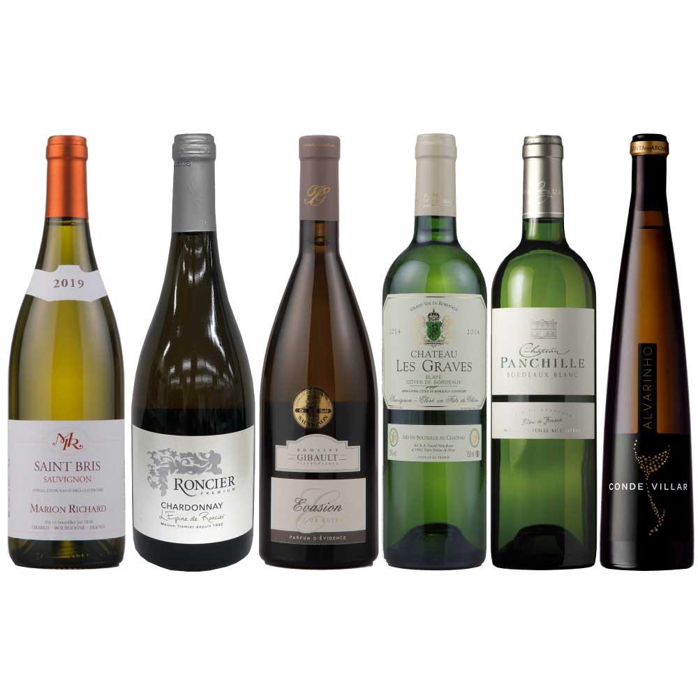 毎月人気のプレステージワインセット 超特価SALE開催 ワインバスケット 人気上昇中 プレミアム白6本セット 白ワイン ワインセット