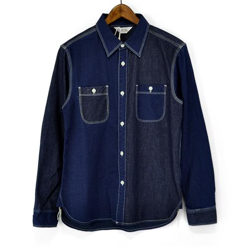FIVE BROTHER(ファイブブラザー)151721 Denim Shirts デニムシャツ L/Sシャツ ワークシャツ 長袖デニムシャツ 長袖ワークシャツ mens メンズ トップス 通販 アメカジ バイカー サーフィン ストリート 送料無料