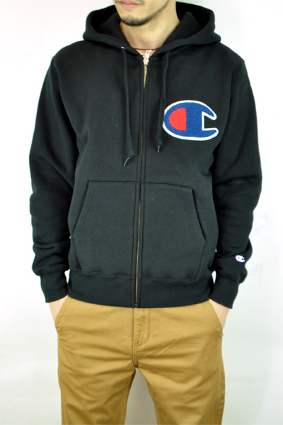Sweatshirts Hoodie Casual Up Hooded Sentence ChampionchampionParka Swt Behind Sweat Brushed Trainer Zip Street Patch SqzMVUp