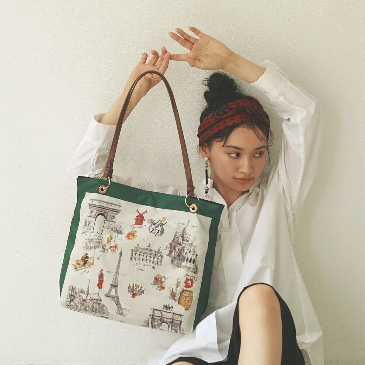 【公式】[トプカピ トレジャー] TOPKAPI TREASURE スカーフ パネル柄 トート バッグ