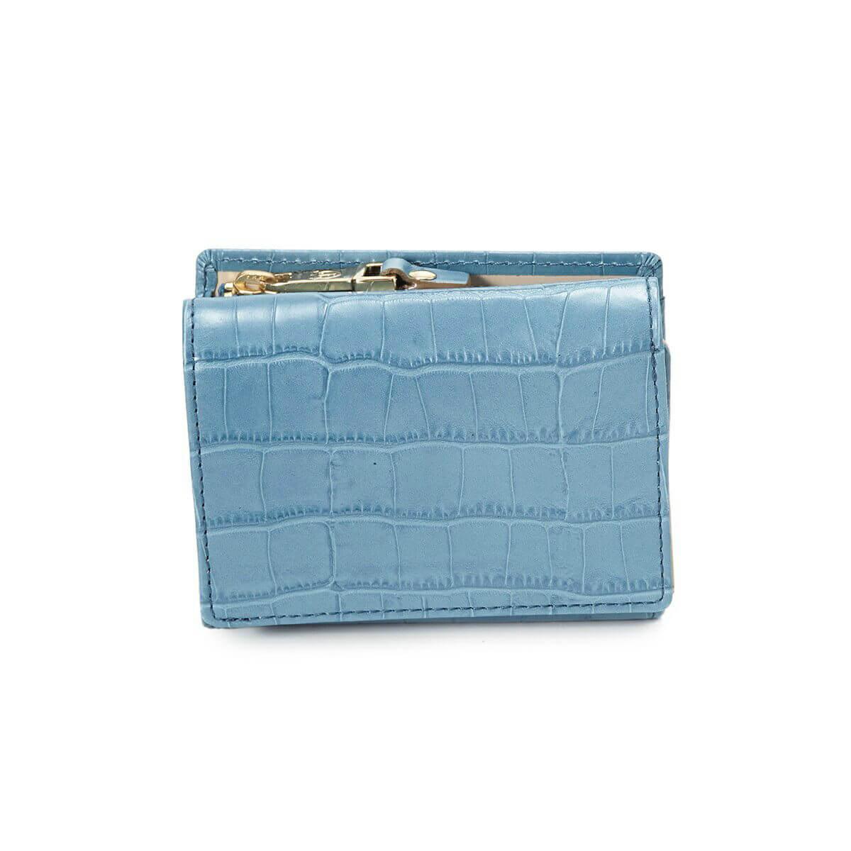 【公式】[トプカピ] TOPKAPI クロコ型押しレザー三つ折り財布 Cocco コッコ