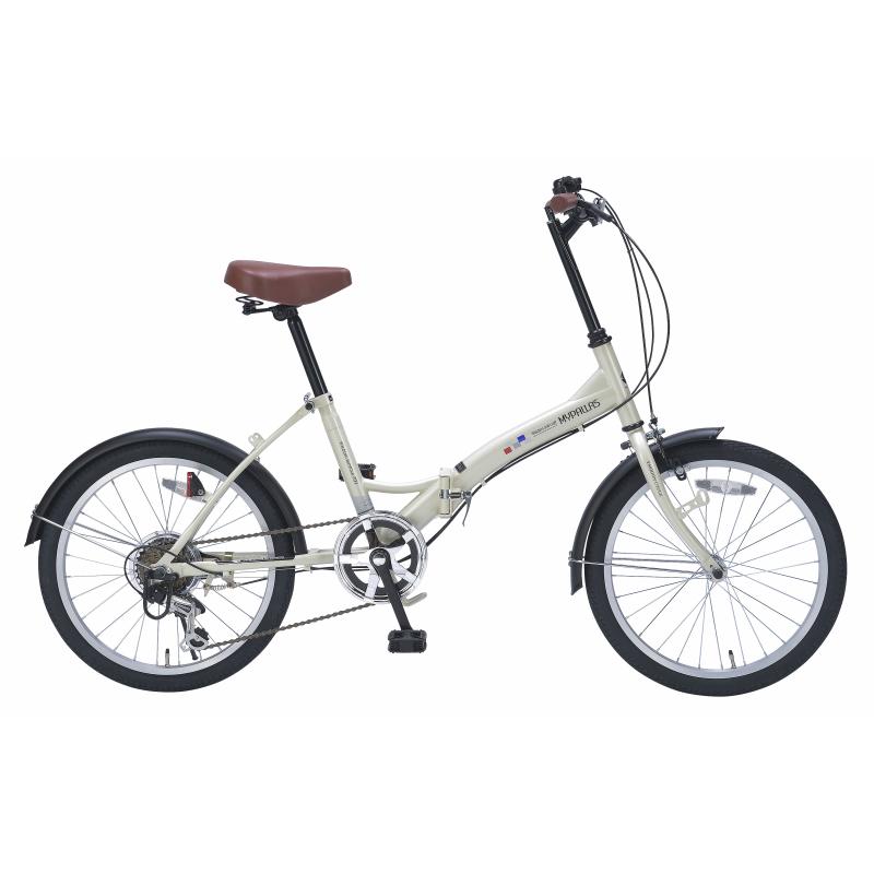 マイパラス折りたたみ自転車20インチ6段ギア M-209