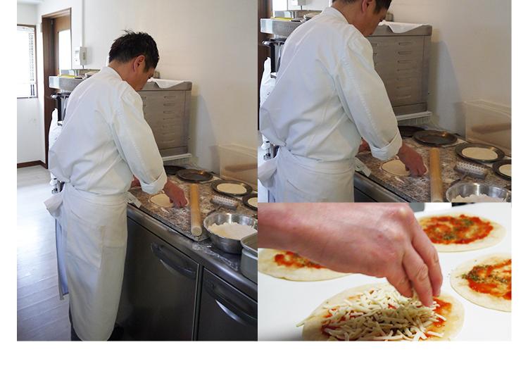 ピザ マルゲリータ 本格ピザ(24cm)■イタリアの小麦粉を使用したシェフ自慢の手作り本格ピザ バジル ピザ クリスピー ピザ Pizza ピッツァ お試し 冷凍ピザ 冷凍 生地 手作り
