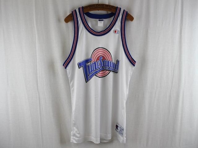 champion■TuneSquadバスケットボールシャツ ホワイト/40 96年製 SPACE JAM