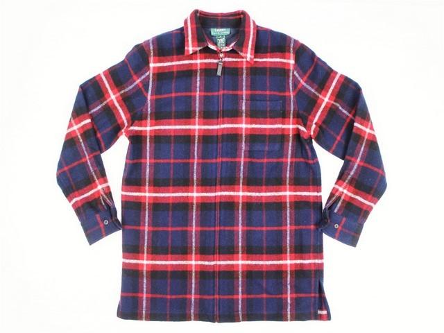 LAUREN RALPH LAUREN■フルジップウールチェックシャツ レッド×ブラック×ネイビー×ホワイト/M ラルフローレン