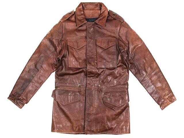 ヴィンテージ■M65タイプレザージャケット ブラウン/M程度 vintage 60S 70S 古着