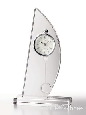 名入れ メッセージ彫刻 名入れ時計【退職記念 退職祝い】GLASS WORKS NARUMIスピンネーカー ペンドラムクロック卓上時計 置時計 ナルミ (鳴海製陶)【送料無料】