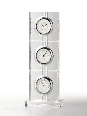 名入れ メッセージ彫刻 名入れ時計【退職記念 退職祝い】GLASS WORKS NARUMIアエリア サーモクロック(T)卓上時計 置時計 ナルミ (鳴海製陶)【送料無料】売れ筋セール