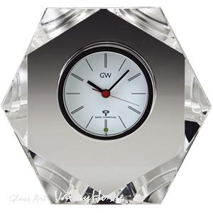 名入れ メッセージ彫刻 名入れ時計【退職記念 退職祝い】GLASS WORKS NARUMIハニカム 電波時計卓上時計 置時計 ナルミ (鳴海製陶)ギフト【送料無料】売れ筋セール