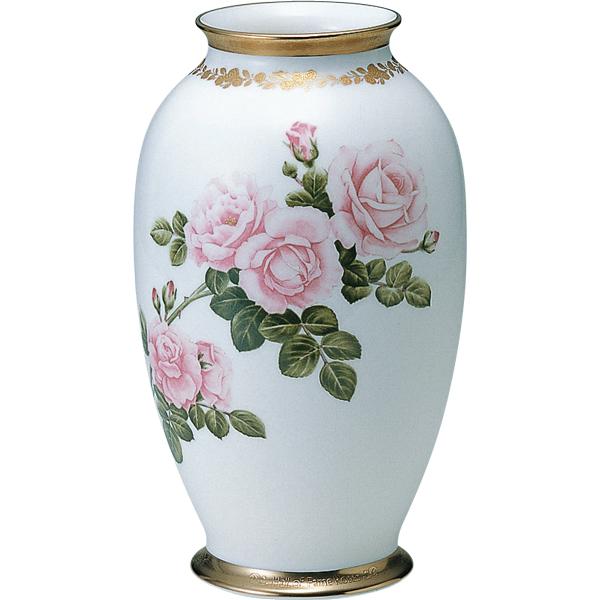 GLASS WORKS NARUMI (鳴海製陶)ホールオブフェイムローズ 花瓶 (ニュードーン) 23cm【 花瓶 花器 フラワーベース 】