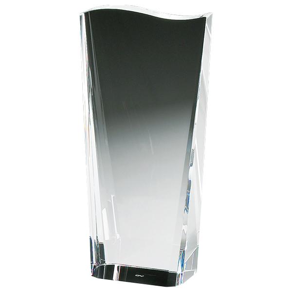 名入れ ロゴ入れ トロフィー 表彰 受賞 記念品<BR>GLASS WORKS NARUMI (鳴海製陶)クレストトロフィー(M)<BR>ガラストロフィー 大会記念 優勝記念 創立記念
