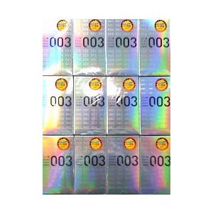 【送料無料】オカモト コンドーム ゼロゼロスリー 003 12個入り×12箱 【ヘビーユーザー感射セット】【1箱あたり965円】