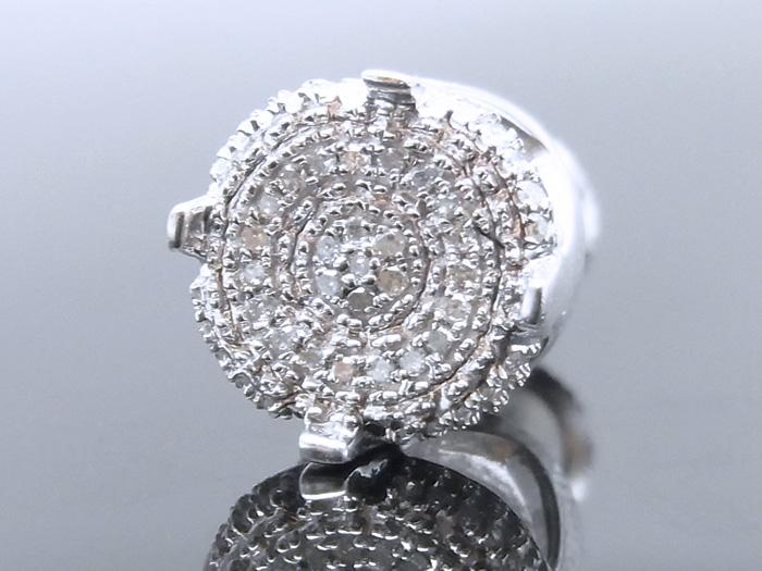 シルバー925 ダイヤモンド0.125ctピアス※1個販売となります。