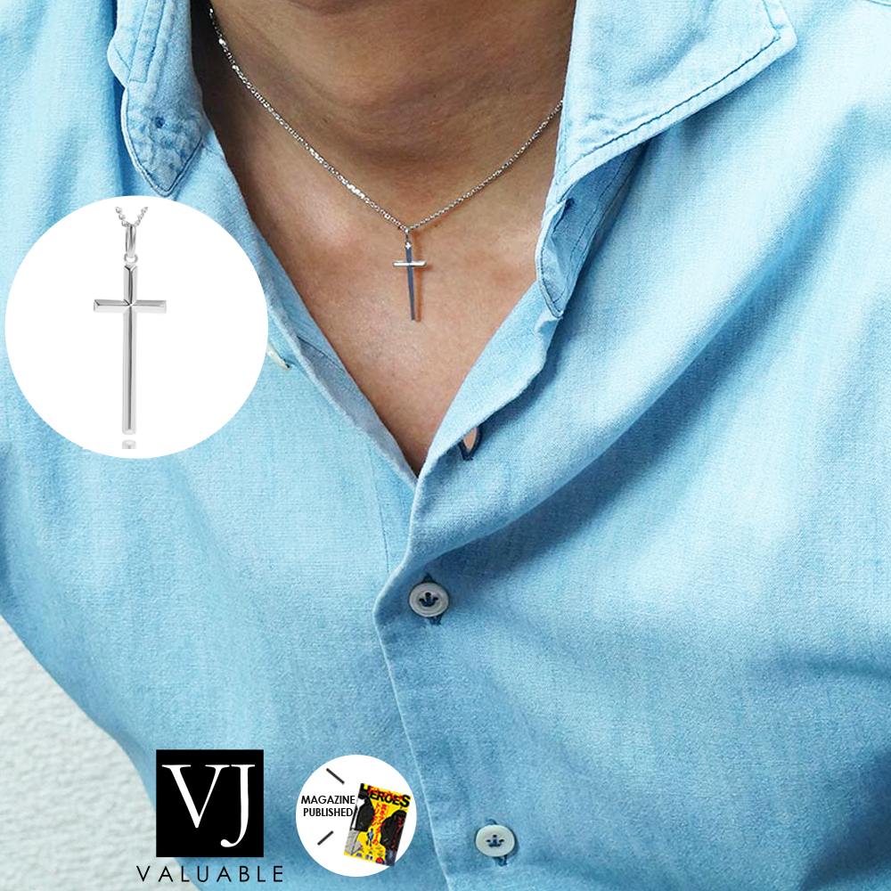 【訳あり】 【ファッション誌掲載】VJ【ブイジェイ】 K18 ホワイトゴールド メンズ A.R クロス ペンダント キヘイチェーンセット【Bセット】 ※チェーン40cm,45cm,50cm選択[ k18 ネックレス 18k ネックレス 18金 ネックレス シンプル 十字架], ワクイショップ 39c6ee6e