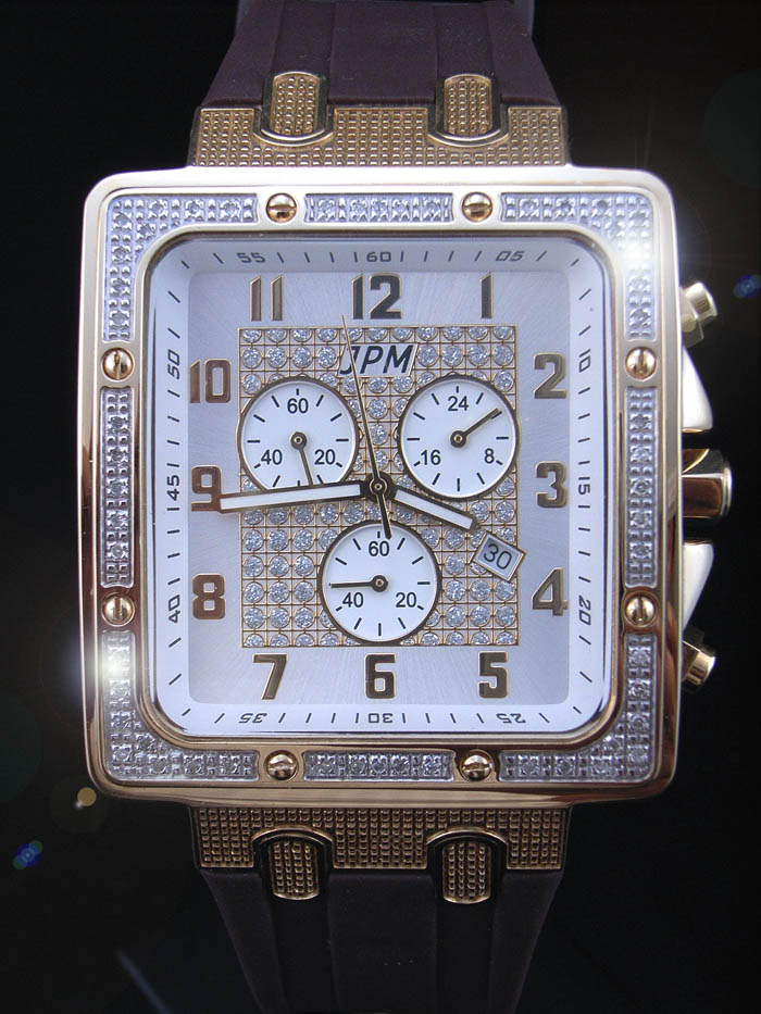 【送料無料】 JPM ジェーピーエム イエローゴールド 972i ダイヤモンド 0.33ct ダイヤモンド ウォッチ 時計 メンズ