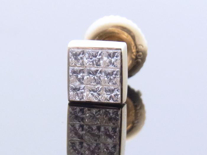 Joe Rodeo 14K イエローゴールド ミステリーセッティング ダイヤモンド0.15ctピアス 14金※1個販売となります。ジョーロデオ