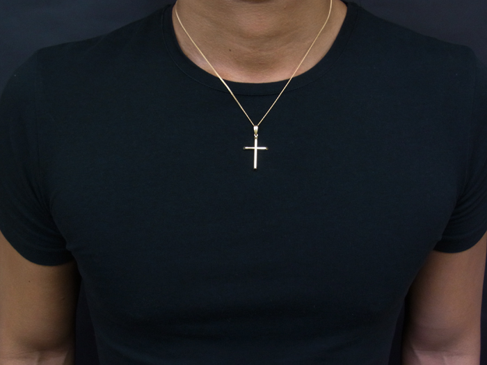 Valuable rakuten global market 18 k yellow gold cross pendant 18 k yellow gold cross pendant chain smart forfour 18 k gold necklace chain length 40cm45cm50cm available mozeypictures Image collections