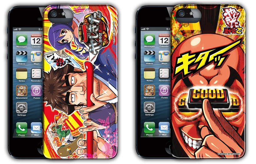 豪華な パチスロやじきたグッズ登場 パチスロキャラ ギフ_包装 やじきた道中記乙 iPhone55Sケース 全2種セット