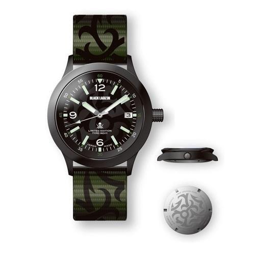 ブラックラグーン オリジナルデザイン機械式腕時計 レヴィ バラライカ 全2種 限定生産150個